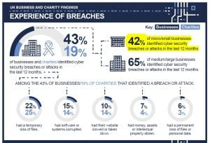 Cyber Security Breaches Survey 2018 - experience of breaches