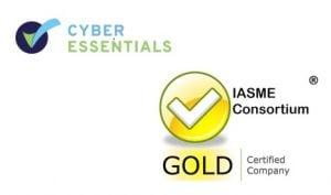 Cyber Essentials and IASME logos